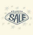 super sale with sparkles drawing style vector image vector image