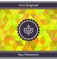 Thanksgiving Day Triangles Background vector image vector image