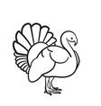 thanksgiving day turkey hand drawn sketch icon vector image vector image