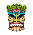 traditional tiki island mask made from the vector image