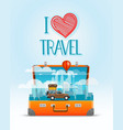 travel bag i love travel vector image vector image