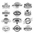 typographic bicycle label design and logo vector image vector image
