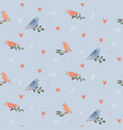 valentine s day cute seamless pattern with hearts vector image vector image