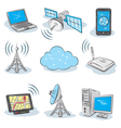 Wireless technology icons vector | Price: 3 Credits (USD $3)