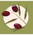 High quality original trendy olive branch vector image