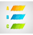 Modern infographics template torn paper style vector image