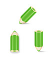 Green Pencil Icon Set Isolated vector image