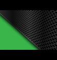 abstract dark gray circle mesh triangle green vector image vector image
