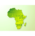 Africa country map presentation vector image vector image