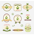 Apple green set of label design and templates vector image