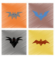 assembly flat shading style icons halloween bat vector image vector image