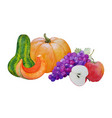 autumn harvest composition vector image vector image