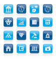 bank financial and investment icons vector image vector image
