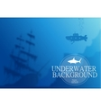 Blurred underwater background vector image vector image