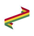 bolivia flag ribbon isolated bolivian tape banner vector image