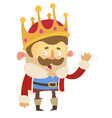 cartoon king vector image vector image