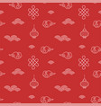 chinese red seamless pattern for new lunar year vector image vector image