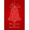 Christmas bell made from snowflakes New year vector image vector image