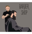 Client visiting hairstylist in barber shop vector image vector image