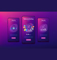 cold calling app interface template vector image vector image