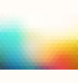 colorful blurry triangle background vector image vector image