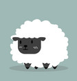 cute black little sheep vector image vector image