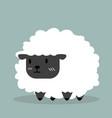 cute black little sheep vector image