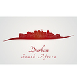 Durban skyline in red vector image