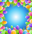 eggs frame design vector image vector image