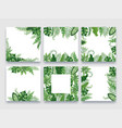 exotic leaves frame tropical leaf border nature vector image vector image