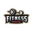 fitness center sport logo vector image vector image
