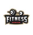 fitness center sport logo vector image