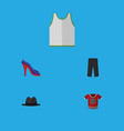 flat icon dress set of pants t-shirt singlet and vector image