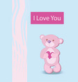 funny character of a bear holding in the paws of a vector image vector image