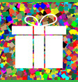 gift box sign white icon on colorful vector image