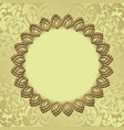 golden background with decorative frame vector image vector image