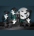 halloween party with ghost vector image vector image