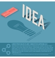 idea card business background concept desig vector image