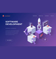 landing page for software development vector image