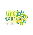 lemonade original design logo template natural vector image vector image
