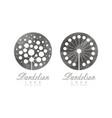 light dandelion fluffy flower head as logo design vector image vector image