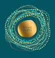 luxury round boho style element for card vector image vector image