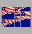 malaysian patriotic festive banners set vector image vector image