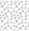 mathematics and geometry seamless pattern vector image