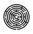 maze labyrinth icon vector image