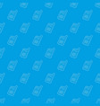 mobile phone pattern seamless blue vector image vector image
