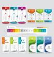 number option banners set vector image vector image