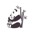 panda mother hugging bapanda love between mom vector image