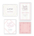 pastel invitation templates collection isolated vector image vector image
