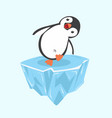 penguin happy on ice floe vector image vector image